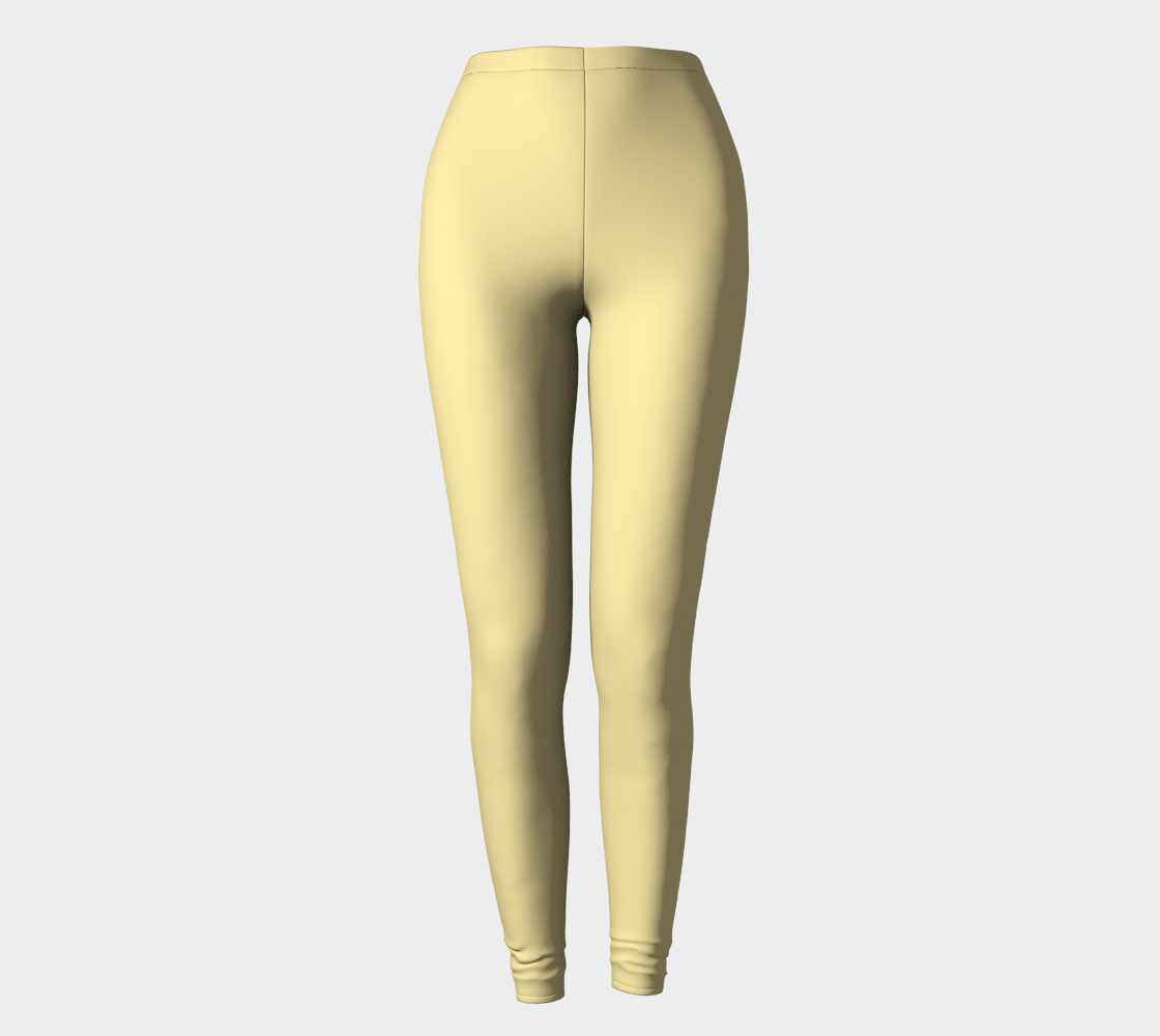 AK02-062-AC:  Fine Leggings | Simply Solids™ - AggieLand Soft Yellow