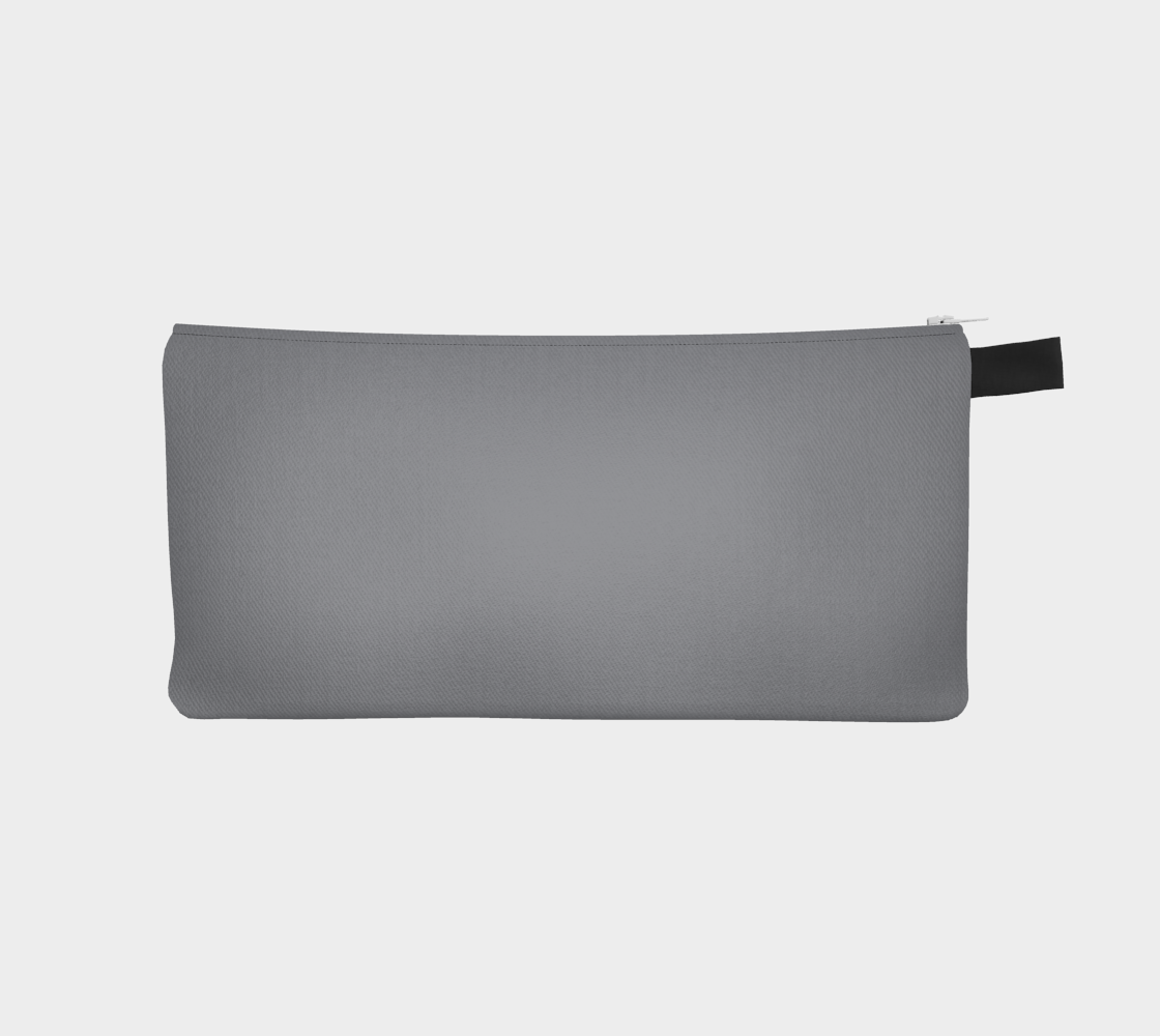 Zippered Pouch  |  Simply Solids™ • Sharkskin Gray