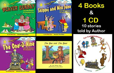 Childrens 4 Books 1 CD
