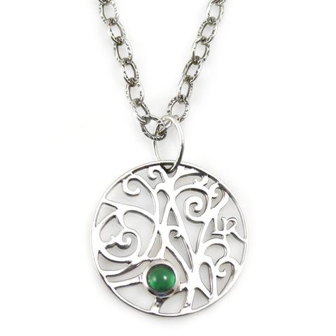Pendant with green Onyx | Lisa Robin