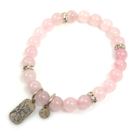 Rose Quartz Bead Bracelet by Lisa Robin jewelry