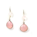 Pink Chalcedony earrings by Lisa robin jewelry