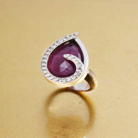 Ruby and Sapphire Ring | Lisa Robin Jewelry