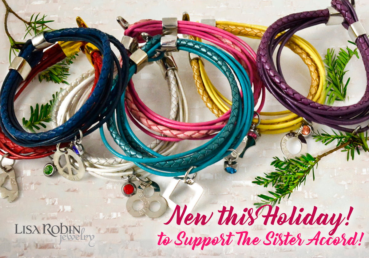 The Sister Accord Charms on Leather Wrap Bracelets