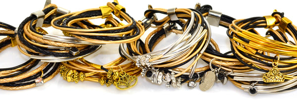 Centerville Schools leather bracelets | Lisa Robin Jewelry