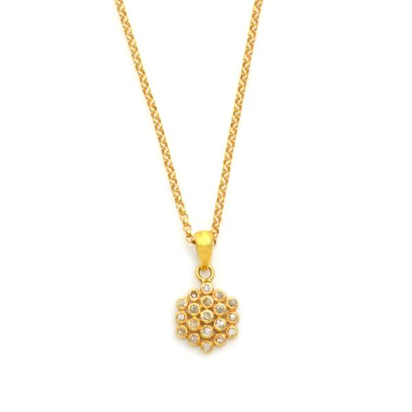 Champagne Diamond Flower Pendant Lisa Robin Jewelry