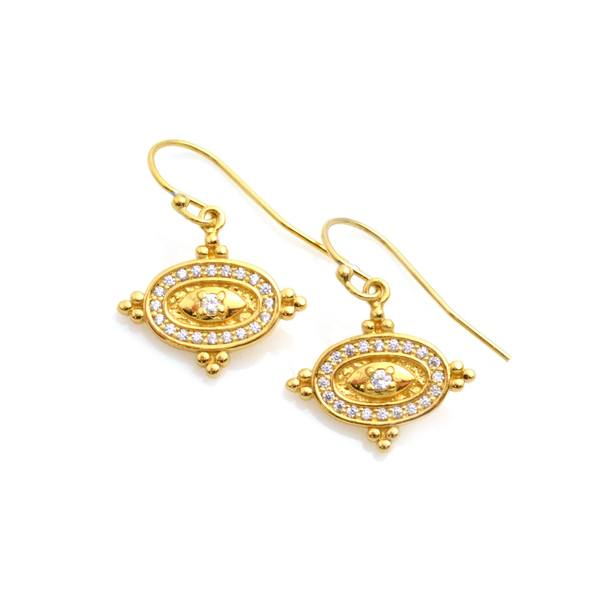 Lisa Robin Jewelry Diamond and Gold Dangle Earrings