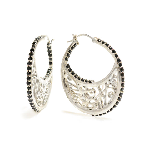 Lisa Robin Jewelry Hoop Earring | Sterling Silver Hoop Earrings