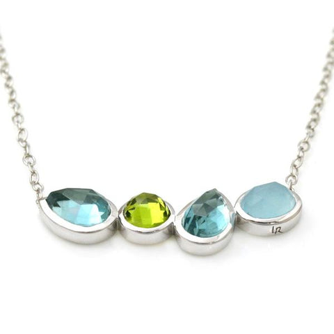 Lisa Robin Jewelry sterling silver handmade aquamarine necklace