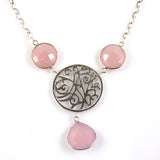 Necklace Pink Chalcedony Sterling