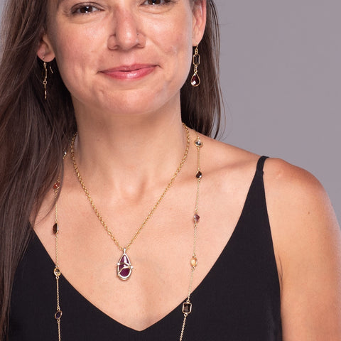 Multi colored gemstone necklaces | Lisa Robin Jewelry