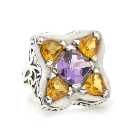 Citrine and Amethyst Ring