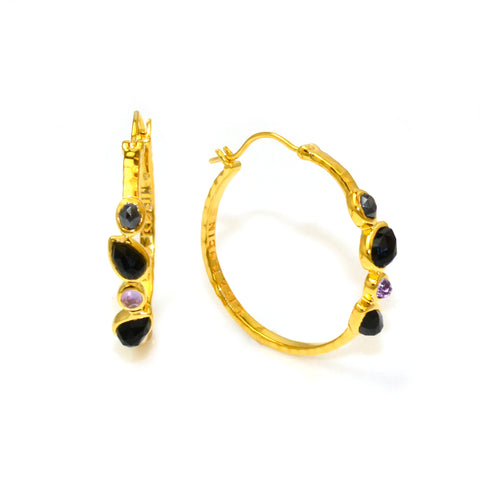Gold Hoop Earrings Lisa Robin Jewelry