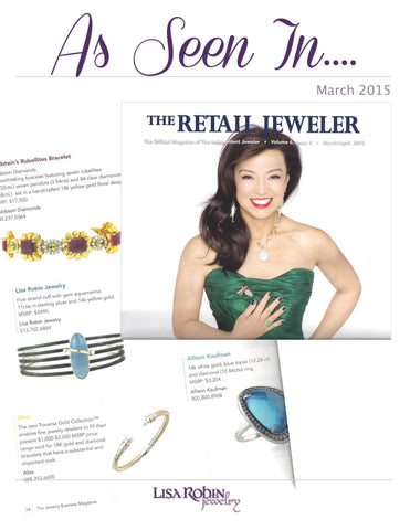 As Seen In The Retailer Jeweler