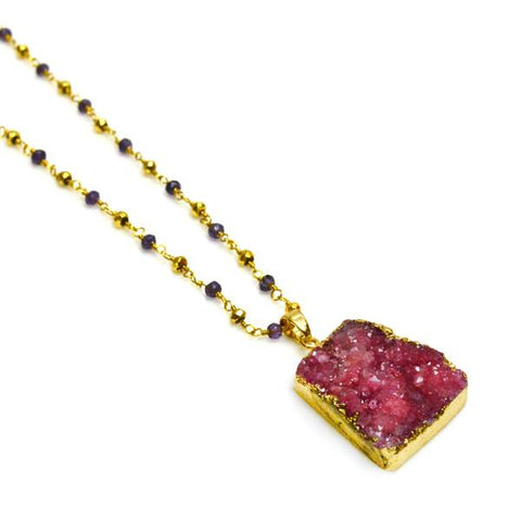 Lisa Robin Jewelry Druzy Necklace