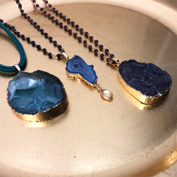 Lisa Robin Jewelry Druzy Pendants and Chains