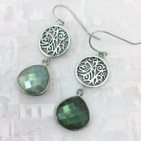 Labradorite Earrings | Lisa Robin