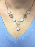 Natural Chalcedony Rose Gold Portale Necklace