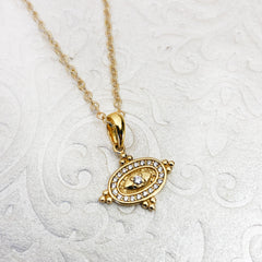 Lisa Robin Jewelry Diamond and Gold Pendant Necklace