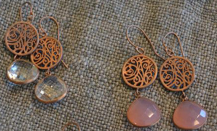 Rose Gold Earrings by Lisa Robin Jewelry