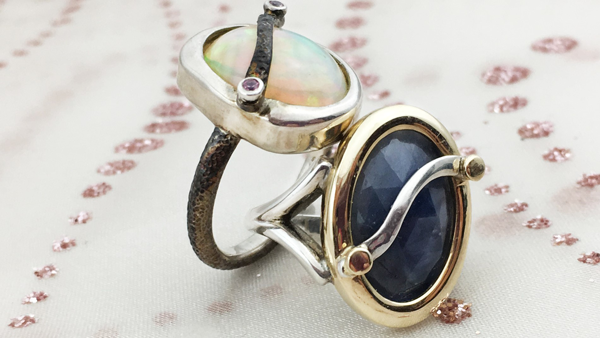 Sapphire Ring | Opal Ring Jewelry