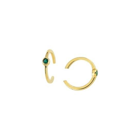 14K Gold Ear Cuff with Precious Gems - Lisa Robin
