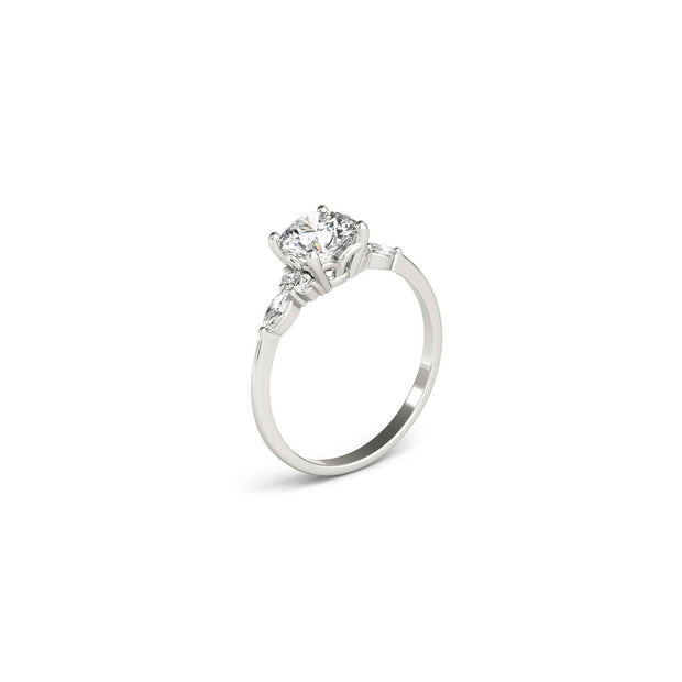 The Sophia Marquise Accented Solitaire Engagement Ring
