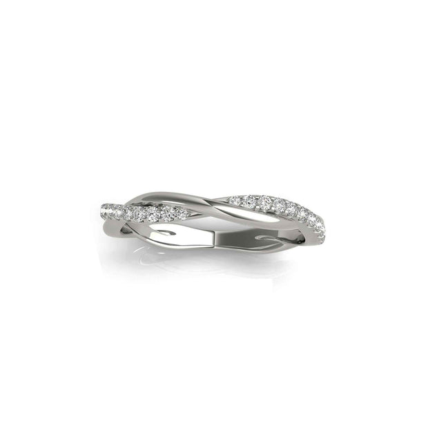 The Maria Twist Diamond Wedding Band