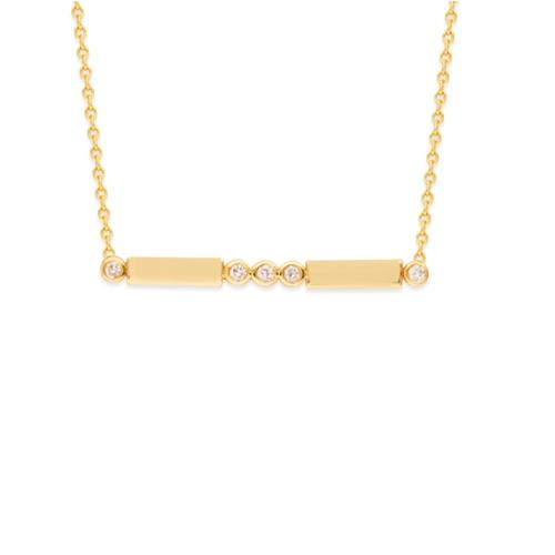 Diamond Bezel Bar Necklace - Lisa Robin