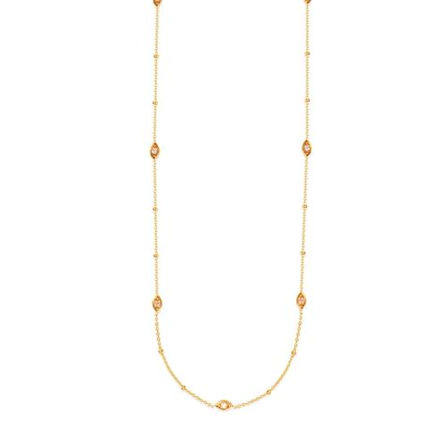 Diamond Marquise Station Necklace 14K - Lisa Robin
