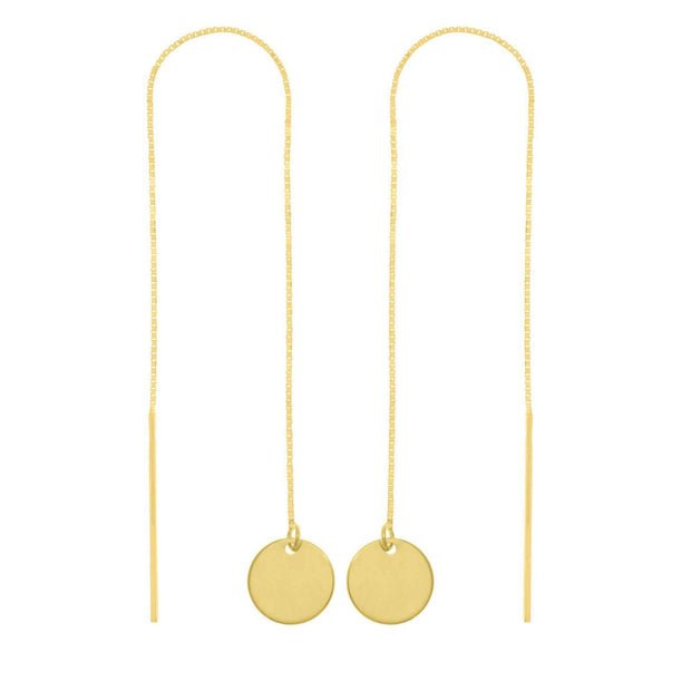 Disc Threader Earrings-14K - Lisa Robin