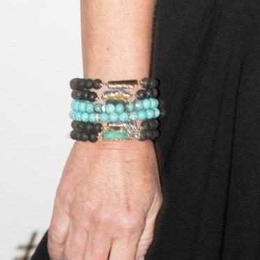 Lava Bead and Druzy Bracelet - Lisa Robin