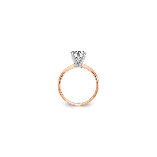 The Aaliyah Moissanite Solitaire Engagement Ring