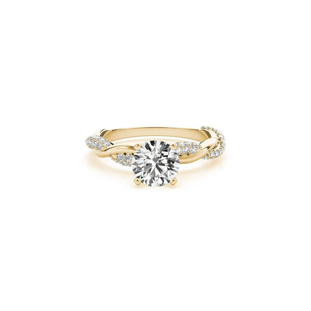 The Amelia Diamond Twist Engagement Ring