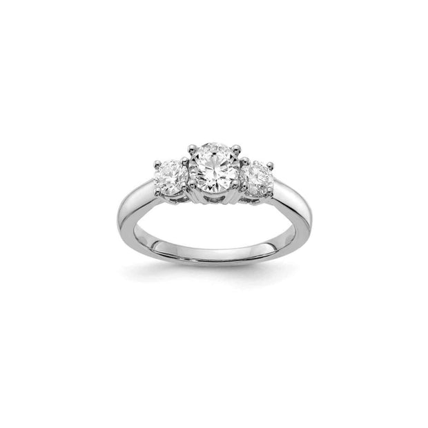 The Eleanor 14K Gold Three Stone Engagement Ring