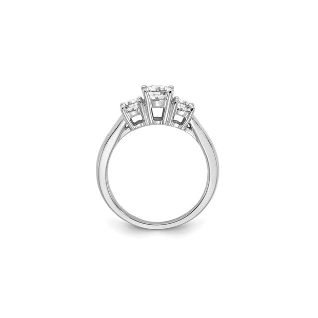 The Eleanor 14K Gold Three Stone Engagement Ring - LISA ROBIN