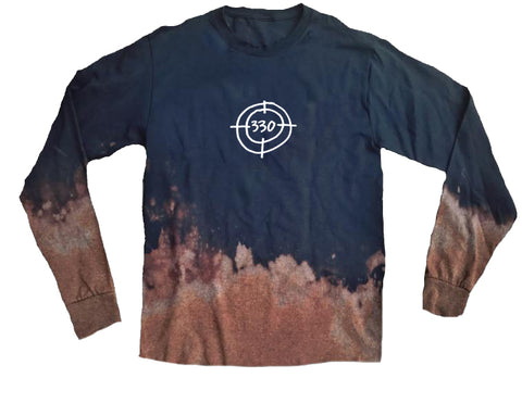 330 Bullseye Acid Wash Long Sleeve