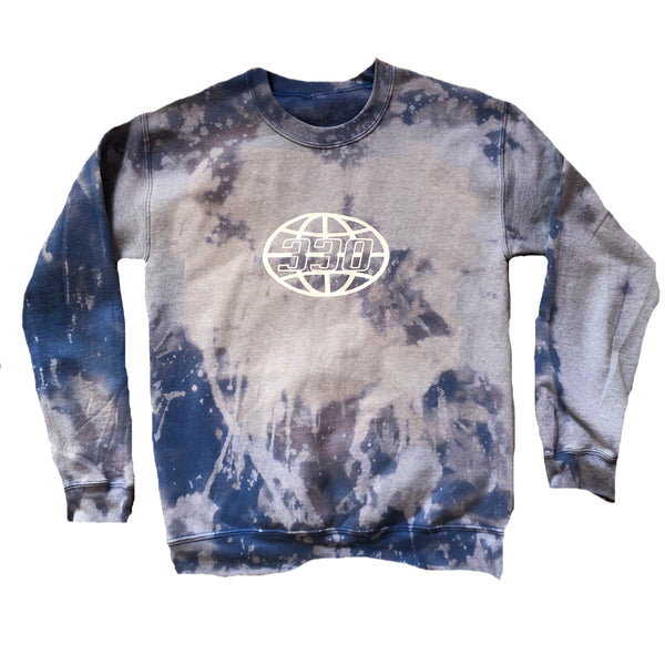 330 Outer Globe Blue Gray Crewneck