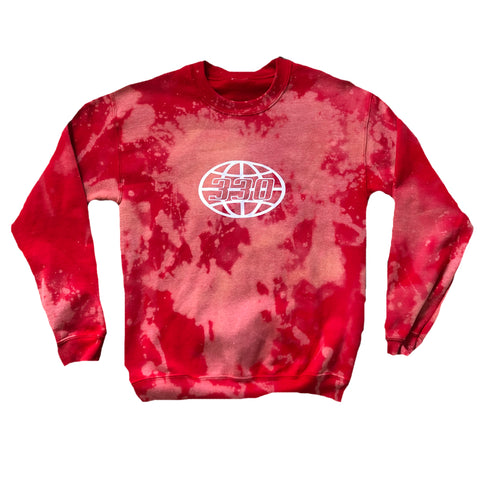 330 Outer Globe Fire Red Crewneck