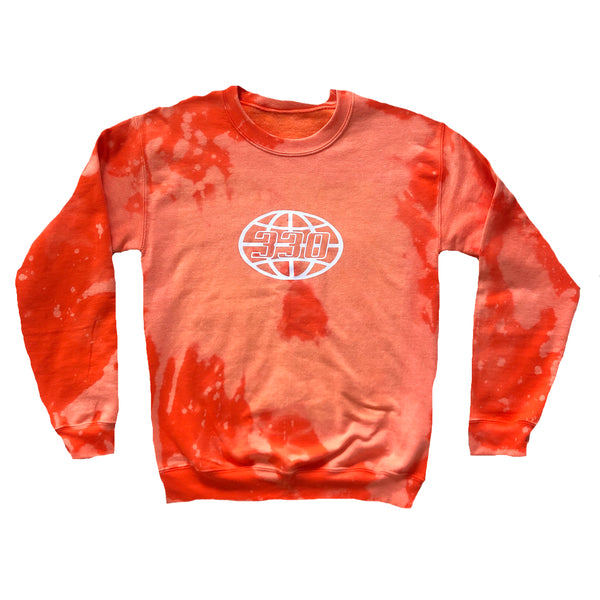 330 Outer Globe Neon Orange Crewneck