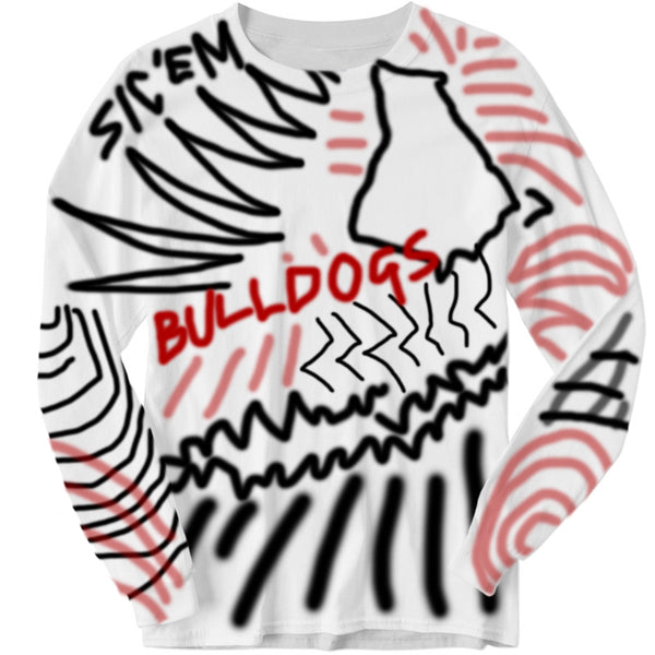 "BULLDOGS ""UGA"" Inspired Graffiti Long Sleeve"