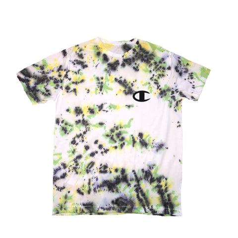 "CHAMPION ""C"" White Splatter Tee"