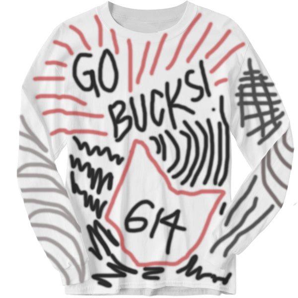 "GO BUCKS  ""Ohio State"" Inspired Graffiti Long Sleeve"