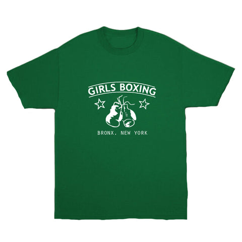 """Girls Boxing Bronx New York"" Green 90's Tee"