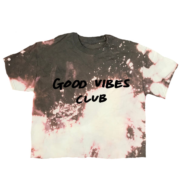 Good Vibes Club Acid Wash Tee