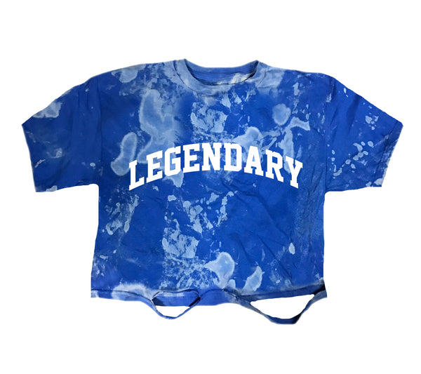 Legendary Acid Wash Crop Tee