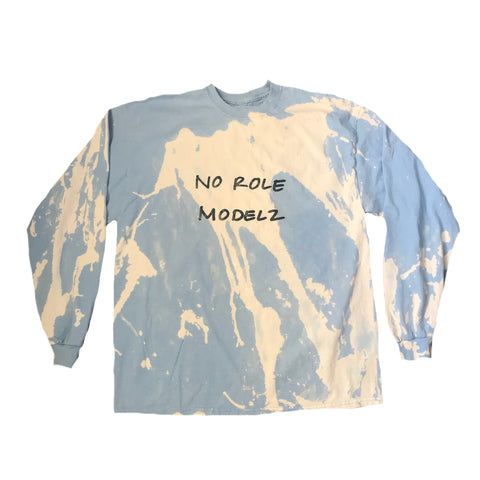"""No Role Modelz""  Handwritten  Acid Wash Long Sleeve"