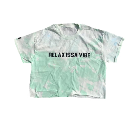 Relax Issa Vibe Mint Green Crop Tee