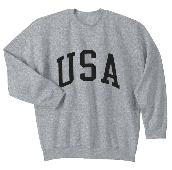 """USA"" Arch Sport Grey Crewneck"