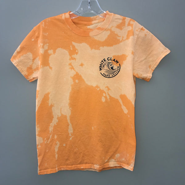 White Claw Golden Orange Logo Acid Tee